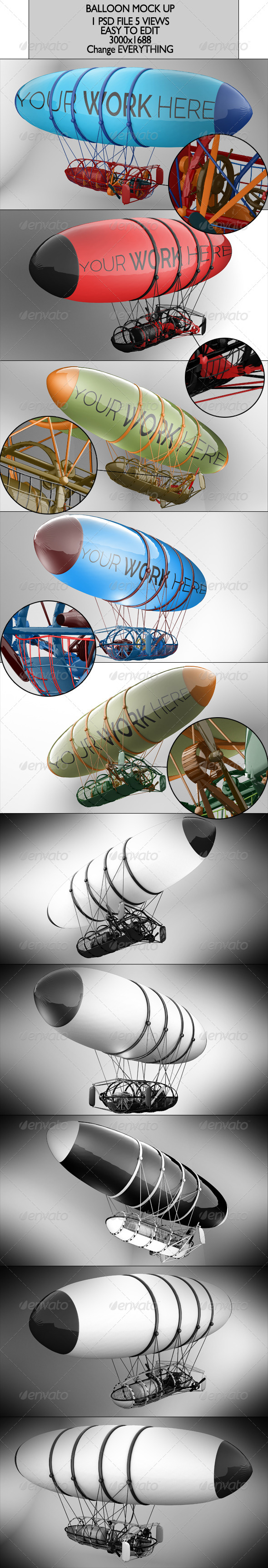 GraphicRiver Balloon Mock Up 6715823