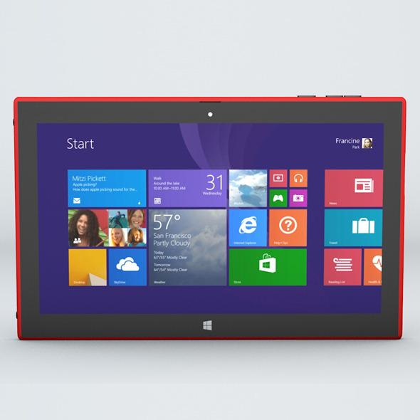 3DOcean Nokia Lumia 2025 Windows Tablet 6715939