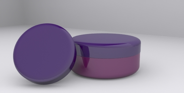 3DOcean 3D Cream Jar Model 6715950