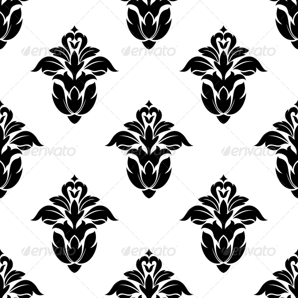 GraphicRiver Seamless Pattern of Floral Motifs 6715961