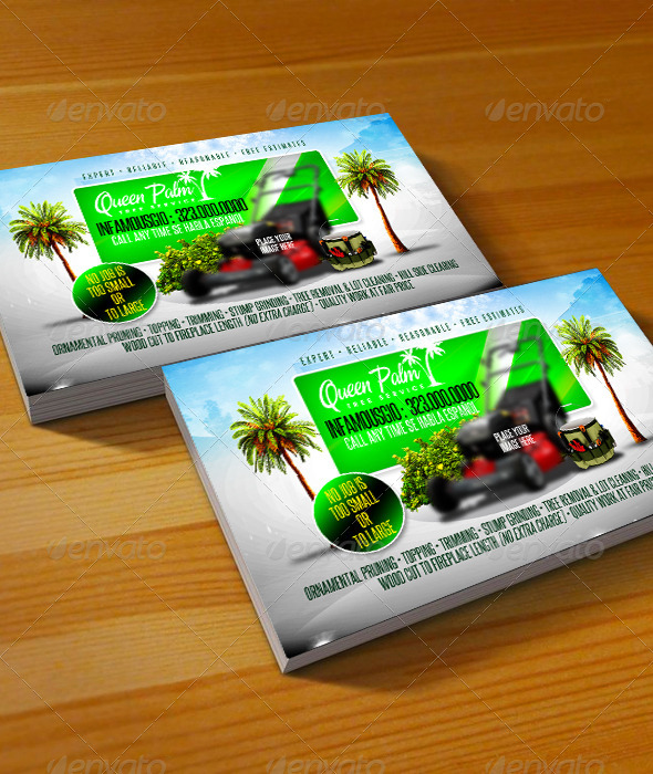 GraphicRiver Gardening Business Card 2 6705555