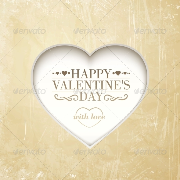 GraphicRiver Happy Valentine s Day Background with Heart 6716547