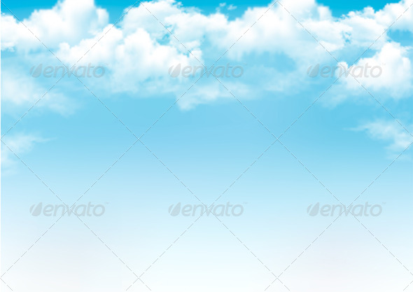 GraphicRiver Blue Sky with Clouds Background 6716986