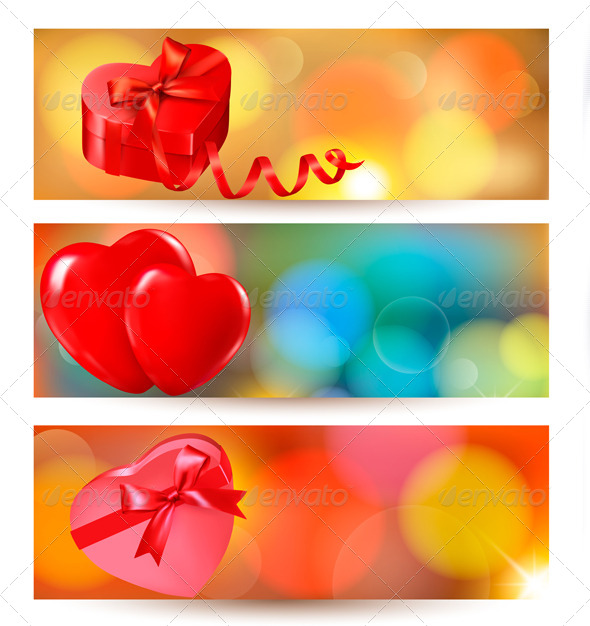 GraphicRiver Set of Valentine Gift Cards 6716994