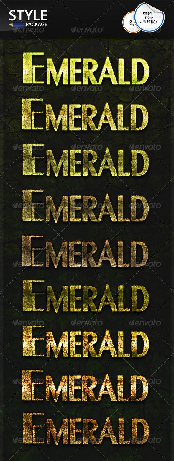GraphicRiver Emerald Stone Styles 6717144
