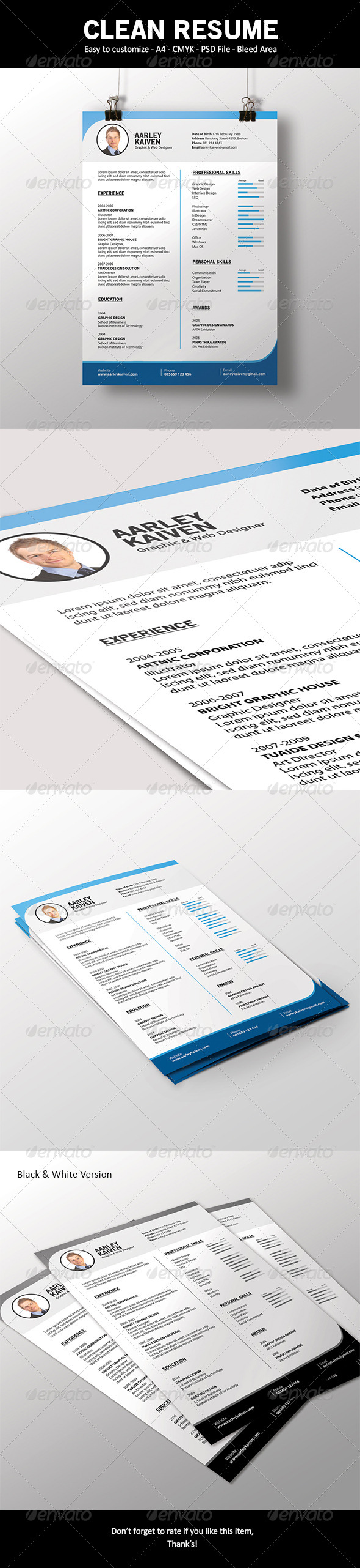 GraphicRiver Simple and Clean Resume 6717402