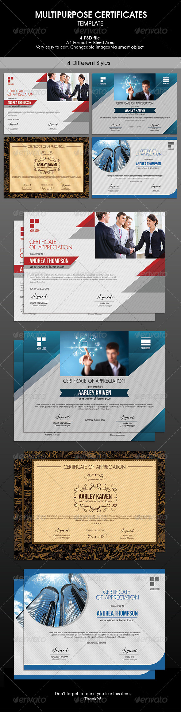 GraphicRiver Multipurpose Certificates 6717669