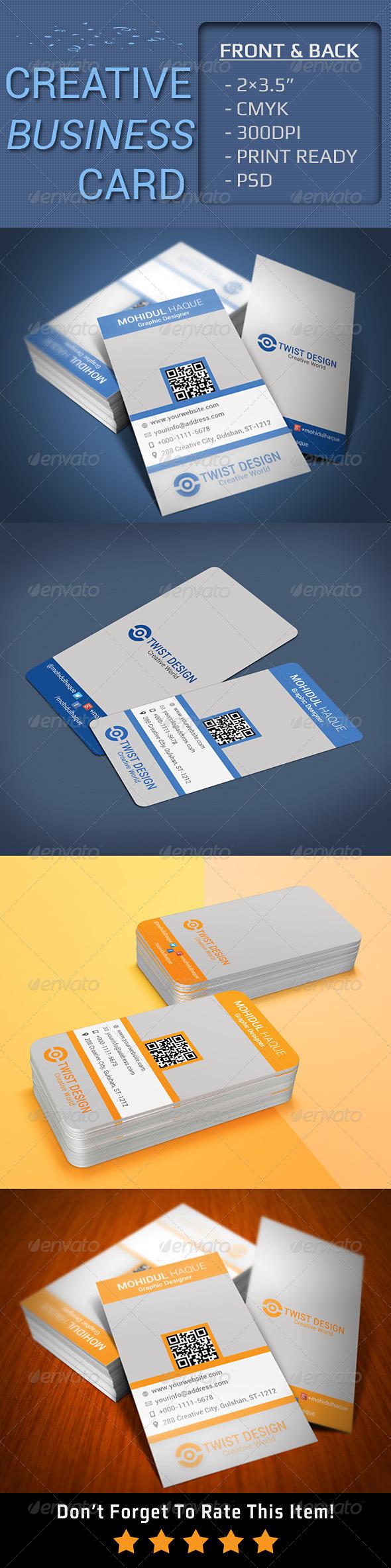 GraphicRiver Creative Business Card V-3 6717718