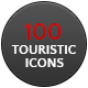 100 Vector Touristic Icons - GraphicRiver Item for Sale