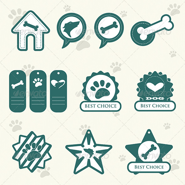 GraphicRiver Dog Labels 6718066