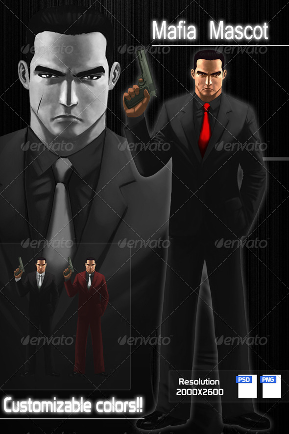 GraphicRiver Mafia Character Design 704121