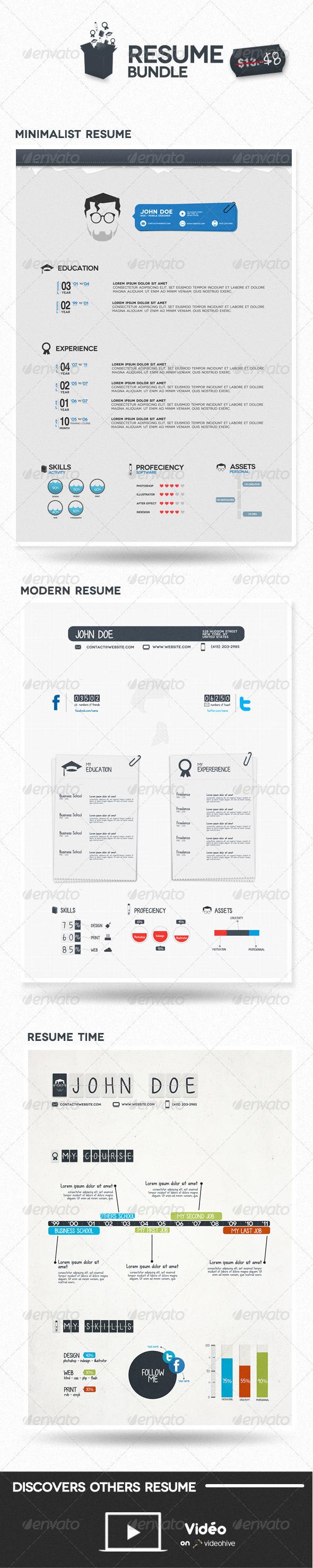 GraphicRiver Bundle Resume 679632
