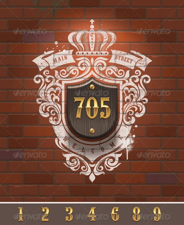 GraphicRiver Vintage Home Number Sign 6718840