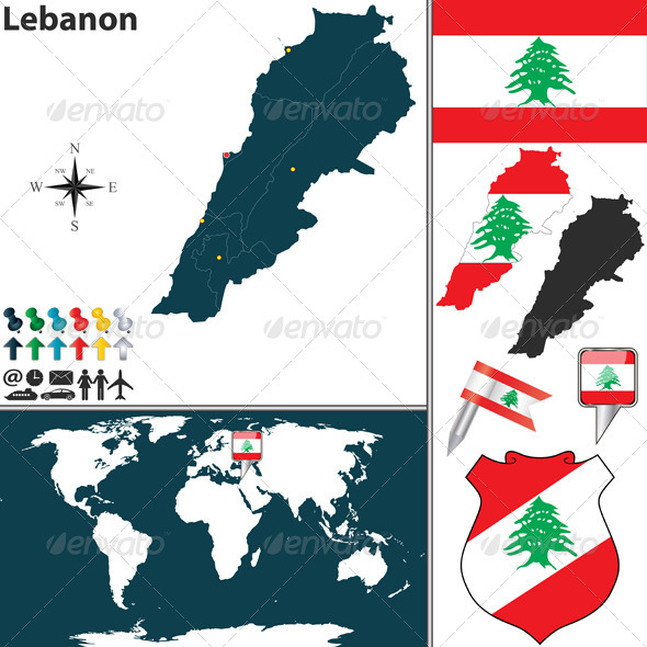 GraphicRiver Map of Lebanon 6718843