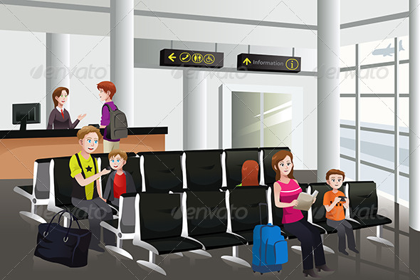 GraphicRiver Waiting in the Airport 6718850