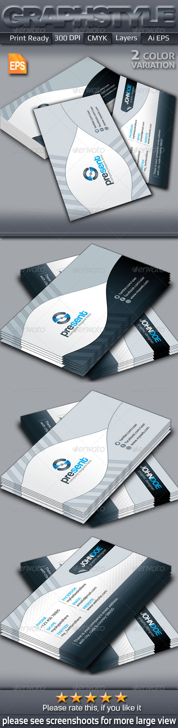 GraphicRiver Present creative business card 6719346