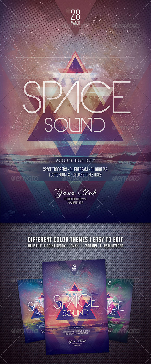 GraphicRiver Space Sound Flyer 6719454