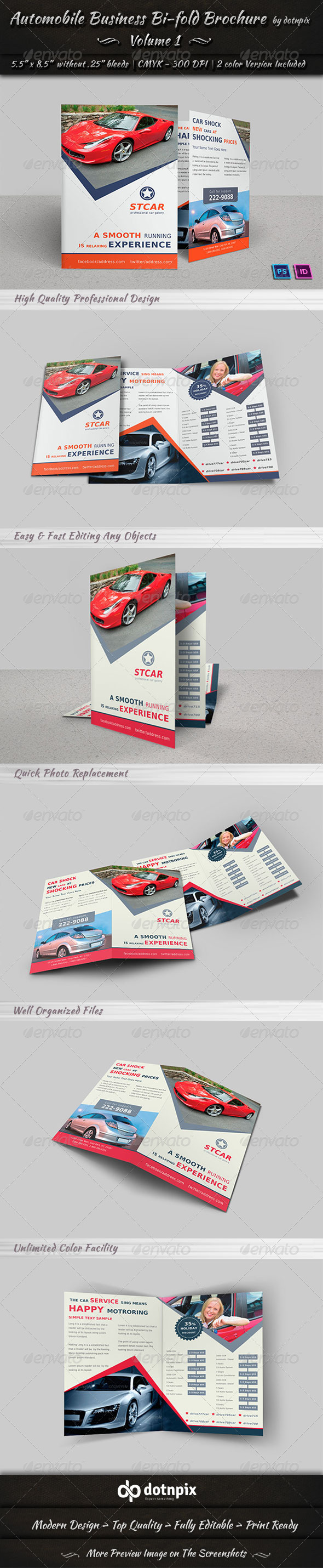 GraphicRiver Automobile Business Bi-Fold Brochure Volume 1 6719459