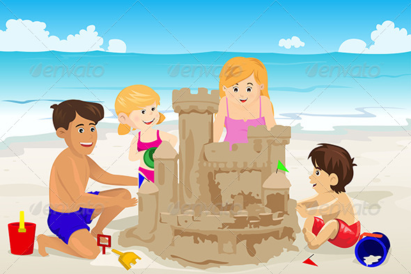 GraphicRiver Family Building Sand Castle 6719673