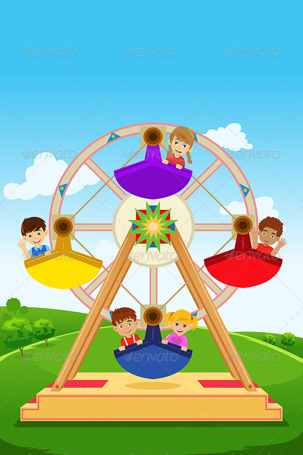 GraphicRiver Kids Riding a Ferris Wheel 6719684