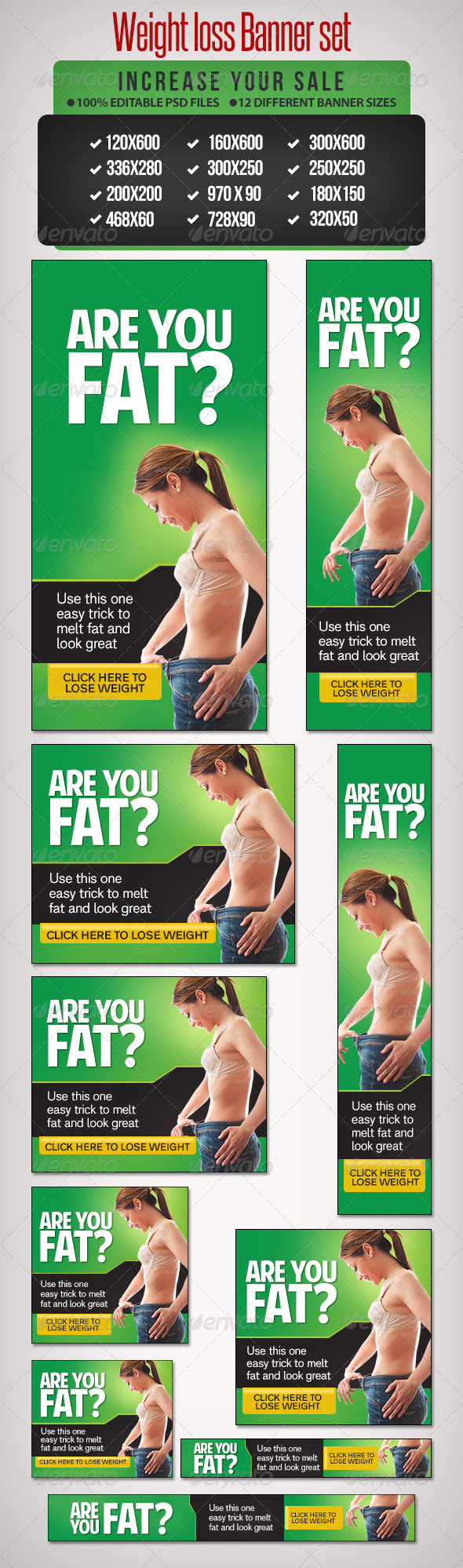 GraphicRiver Weight Loss Banner Set 10 6698132