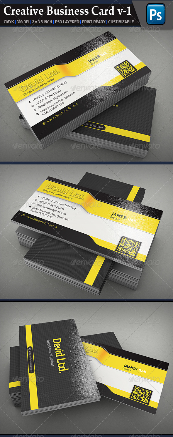 GraphicRiver Creative Business Card V1 6684131