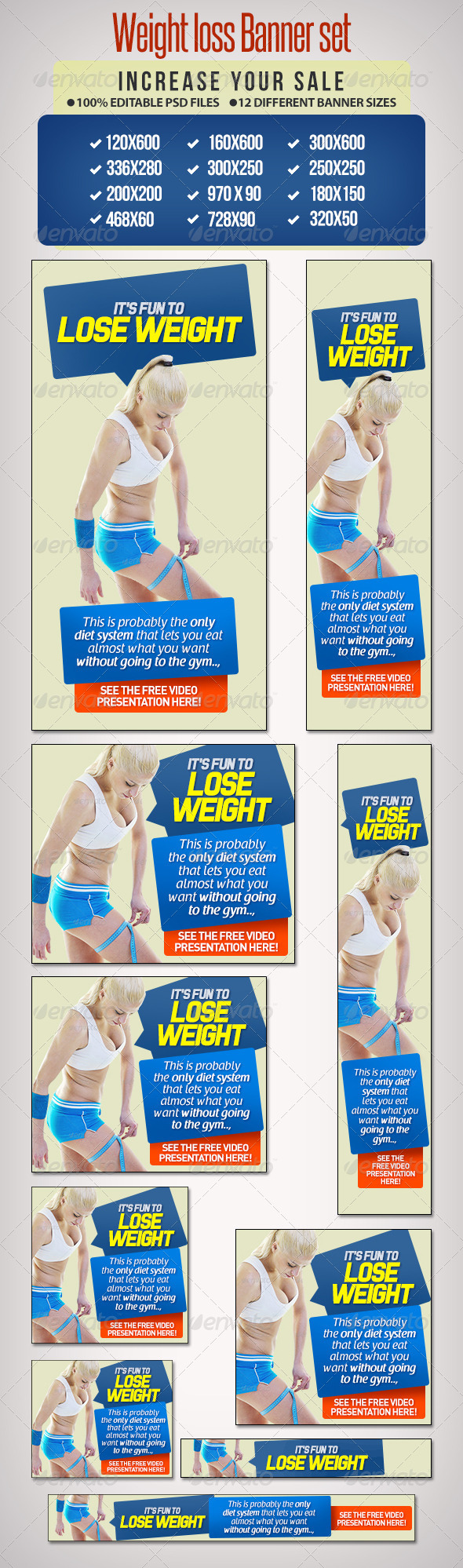 GraphicRiver Weight Loss Banner Set 11 6698200