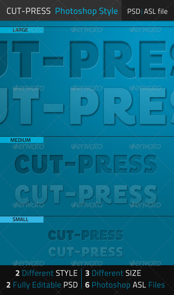 GraphicRiver Cut-Press Photoshop Text Style 6719873