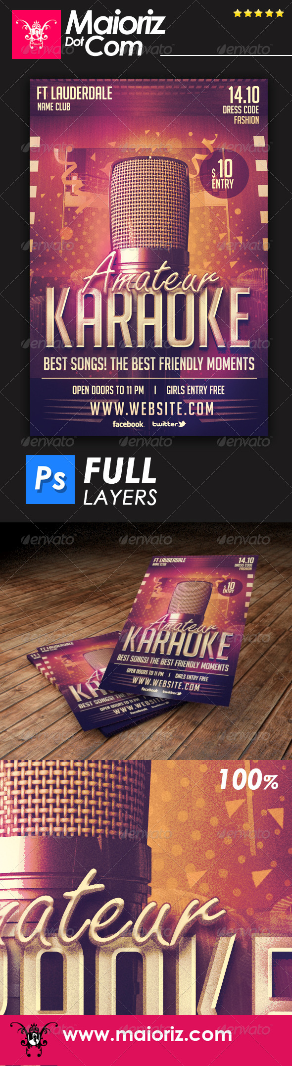 GraphicRiver Karaoke Party Flyer 6719904