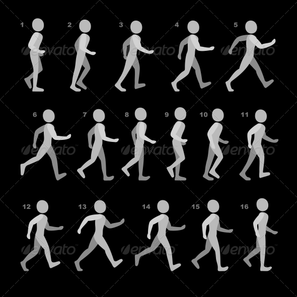 GraphicRiver Phases of Step Movements Walking Sequence 6720005