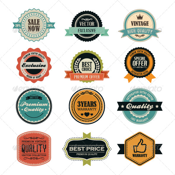 GraphicRiver Set of Retro Vintage Badges and Labels 6720174