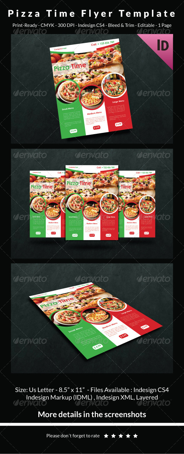 GraphicRiver Pizza Time Flyer Template 6720233
