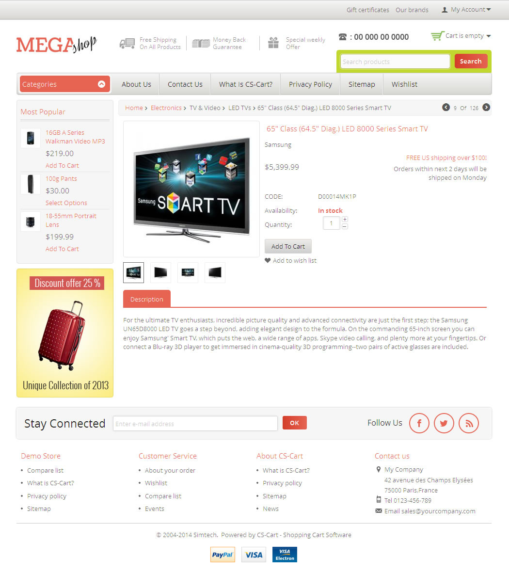 Mega Shop - CS-Cart Responsive Theme