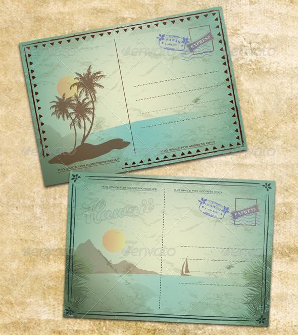GraphicRiver Vintage Summer Postcards 6721004
