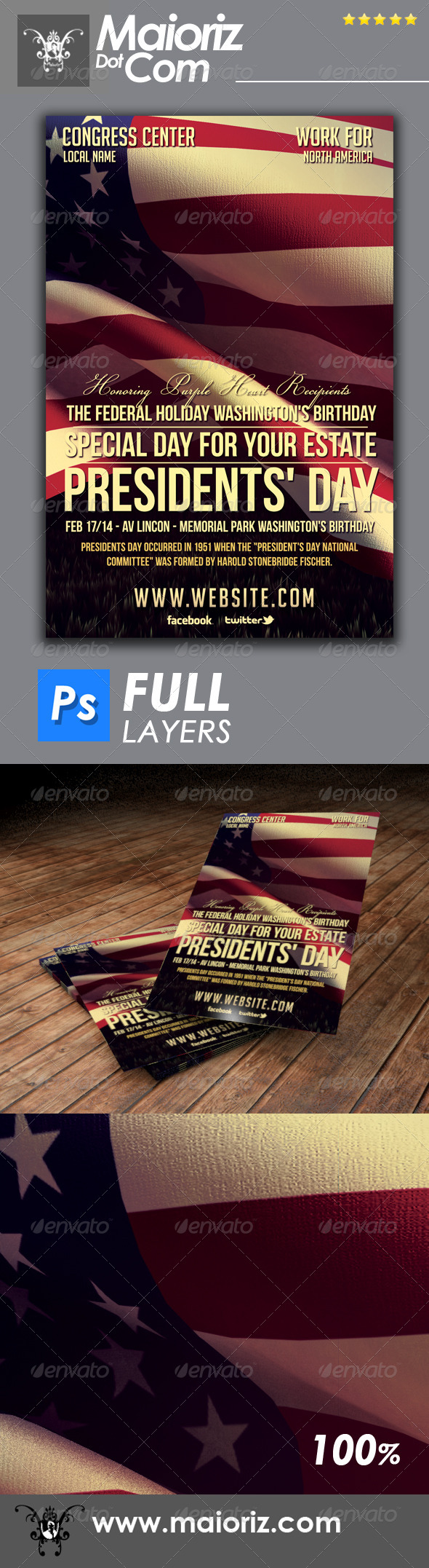 GraphicRiver President Holiday Event Flyer 6721426