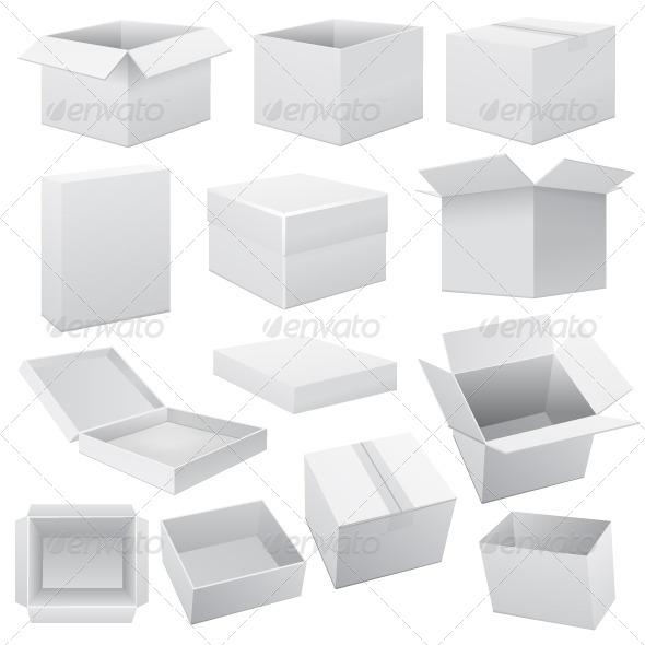 GraphicRiver Box Icon Set 6721786