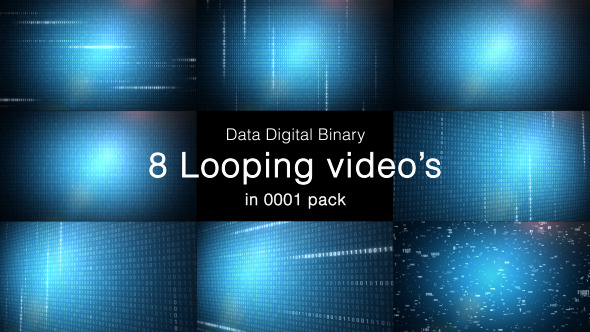 Data Digital Binary 8 Pack