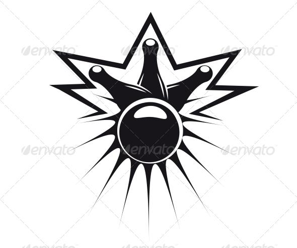 GraphicRiver Bowling Ball Knocking Down Three Pins 6722445
