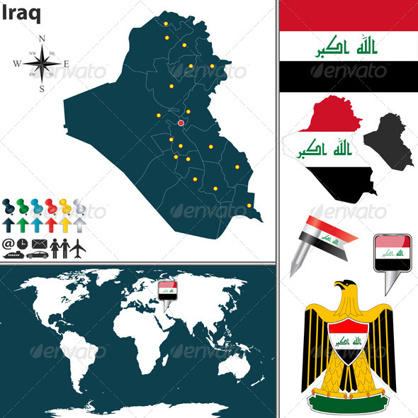 GraphicRiver Map of Iraq 6722535