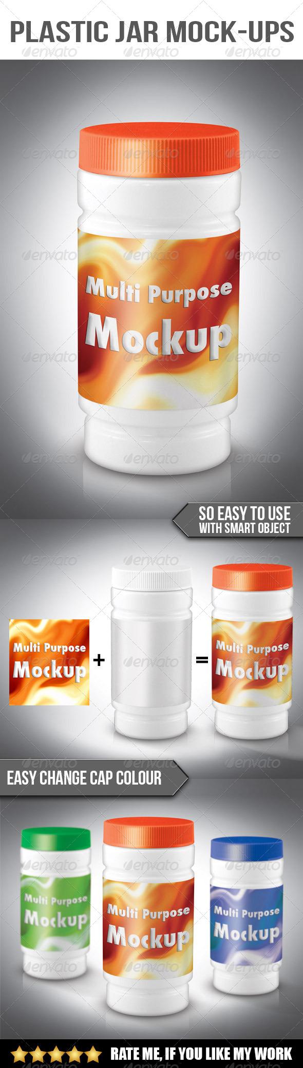 GraphicRiver Plastic jar mockup 6709127