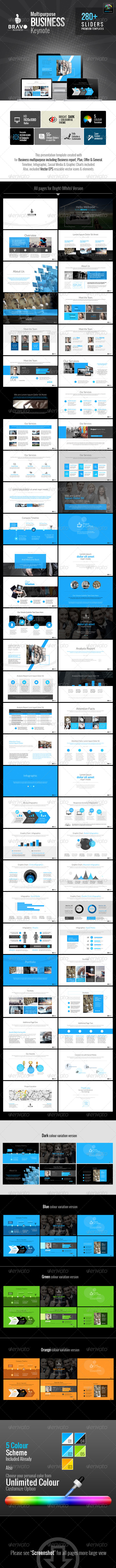 GraphicRiver Bravo Multipurpose Business Keynote 6723398