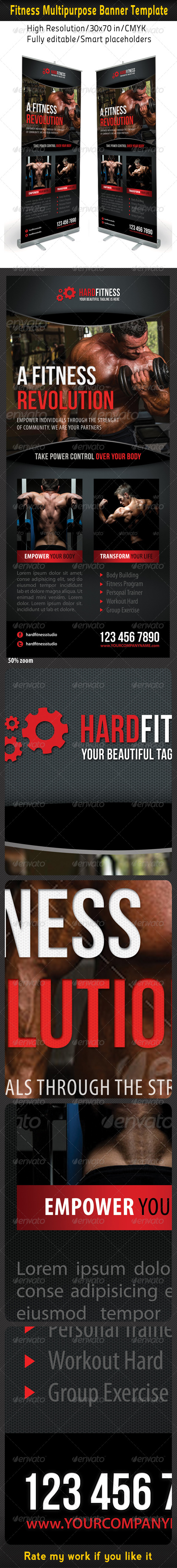 Fitness Multipurpose Banner Template 11 - Signage Print Templates