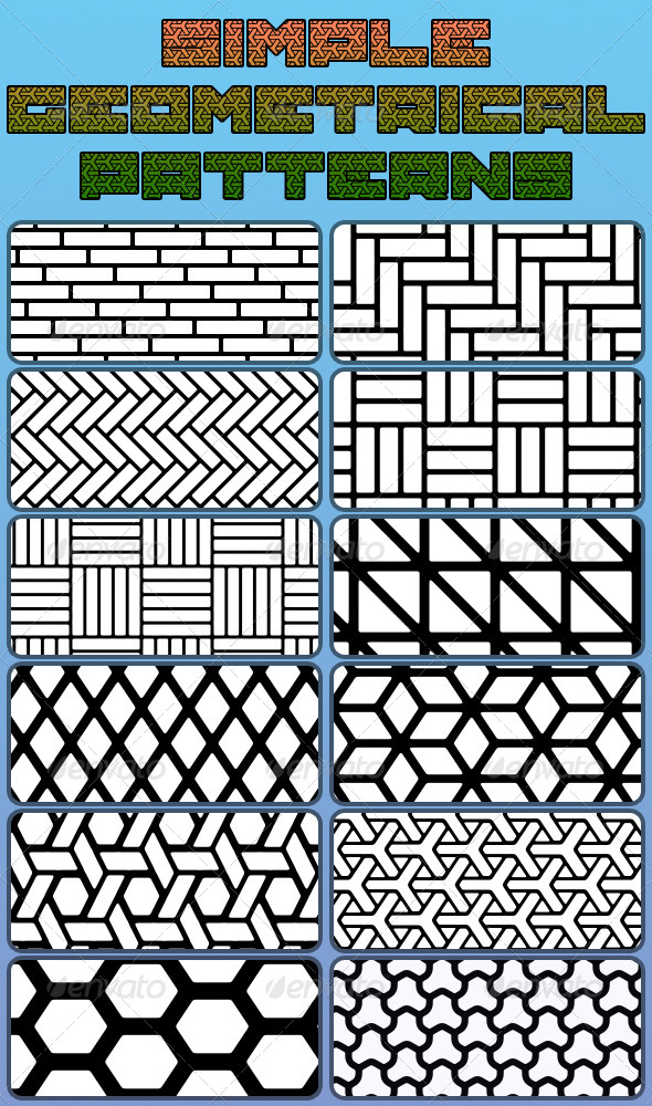 GraphicRiver Simple Geometrical Patterns 6723551