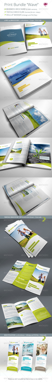 GraphicRiver Print Bundle Wave 6723719