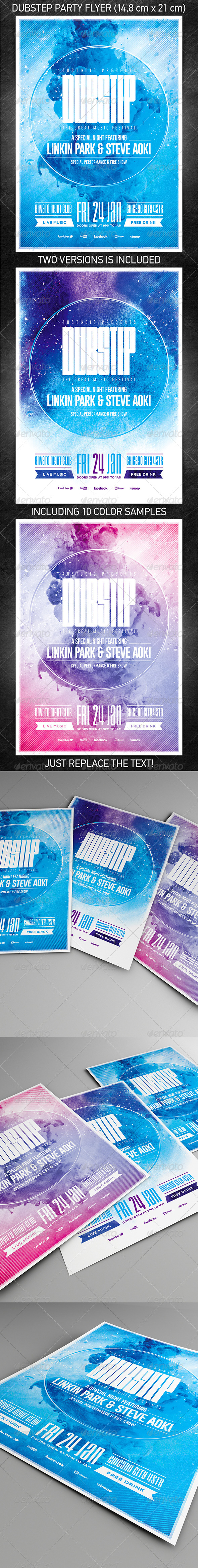 GraphicRiver Dubstep party flyer 6723720