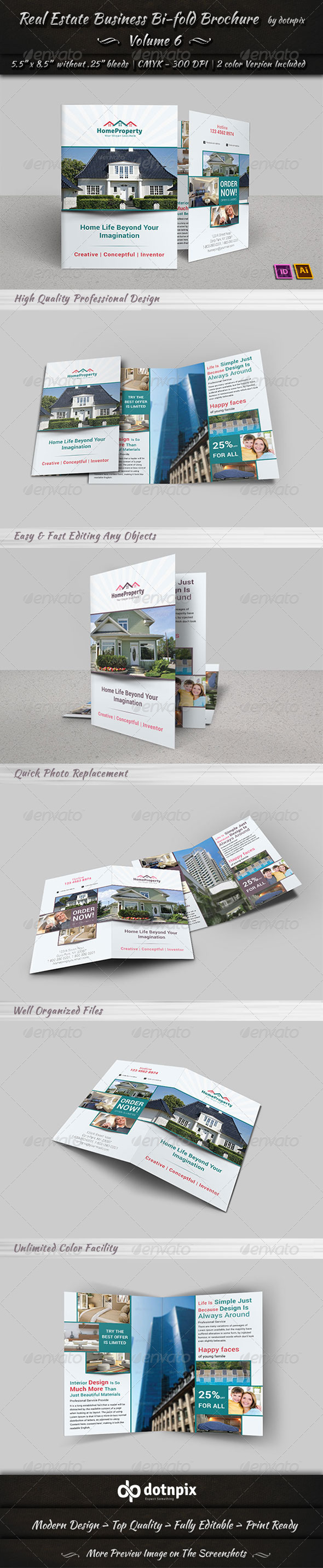 GraphicRiver Real Estate Business Bi-Fold Brochure Volume 6 6723730