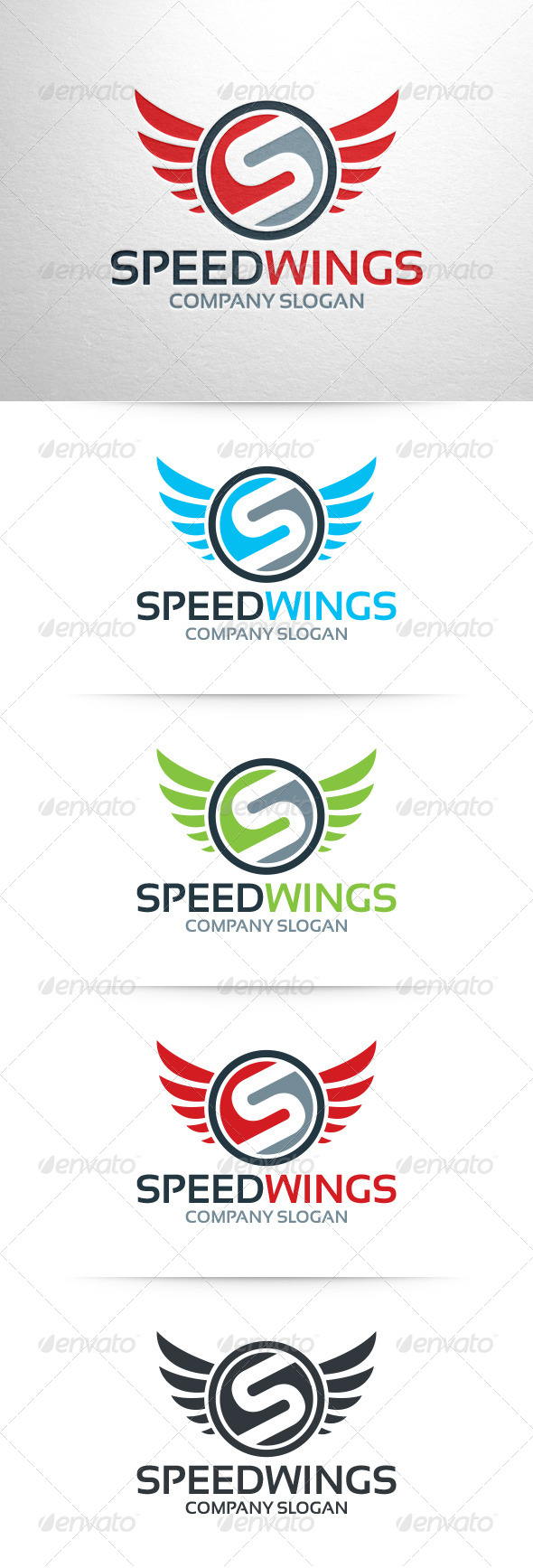 Speed Wings - Letter S Logo - Letters Logo Templates