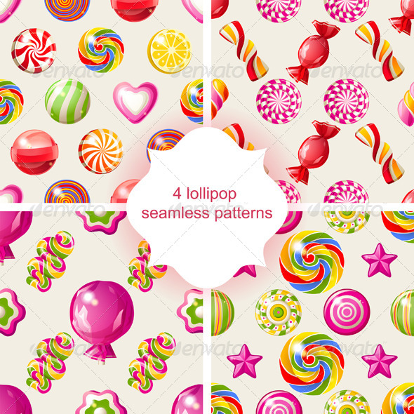 GraphicRiver Lollipop Seamless Patterns 6723739