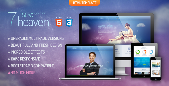 Heaven - Onepage & Multipage Creative Template - Banner