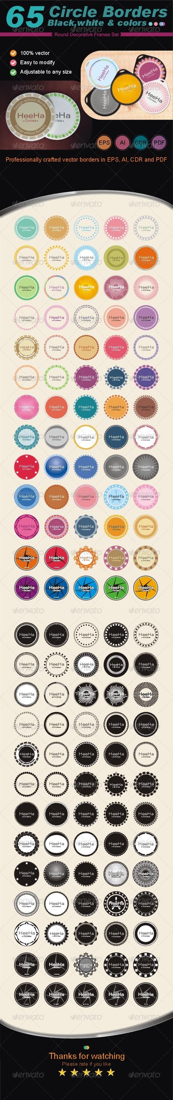 GraphicRiver 65 Circle Borders 6724136